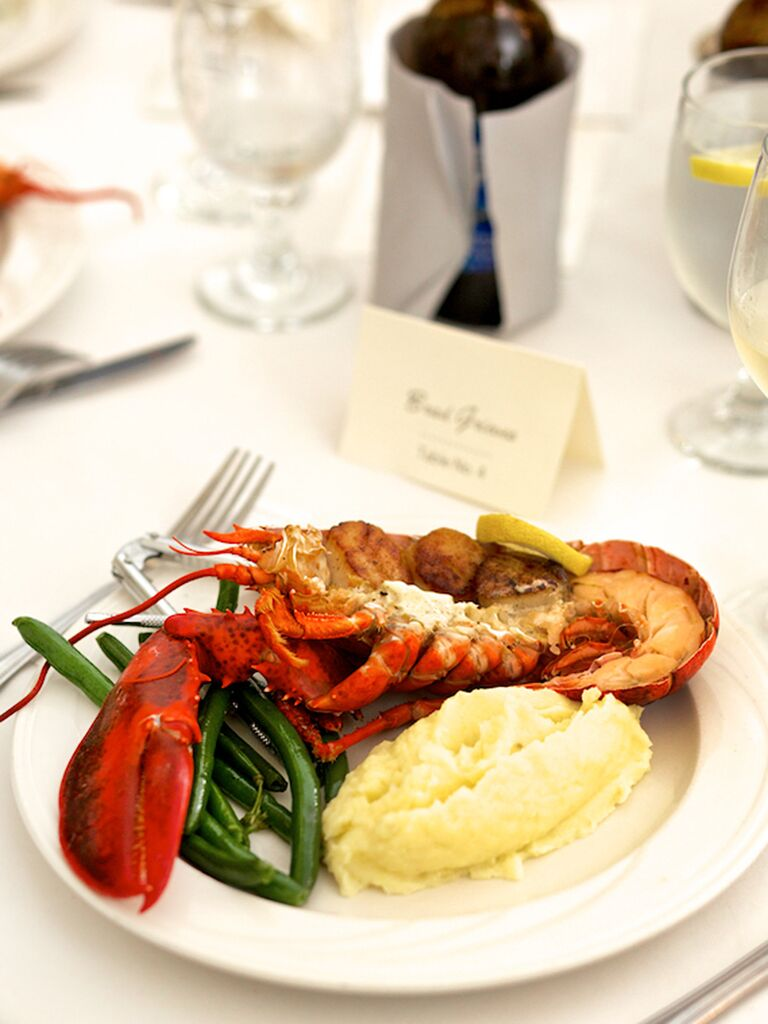 17 reception food ideas for your main dish lobster dinner idea for a wedding reception entree junglespirit Image collections