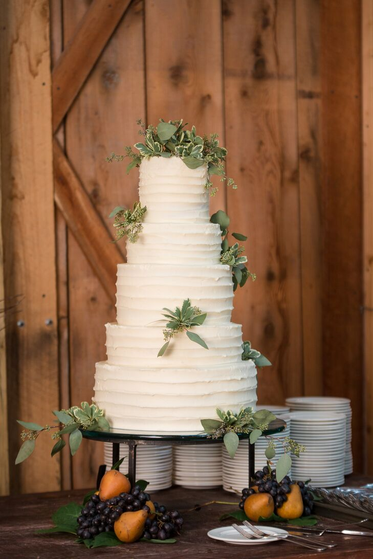Tiered Buttercream Cake with Eucalyptus