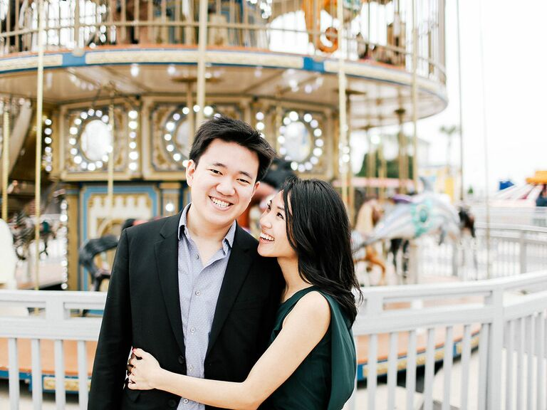 couple at carousel