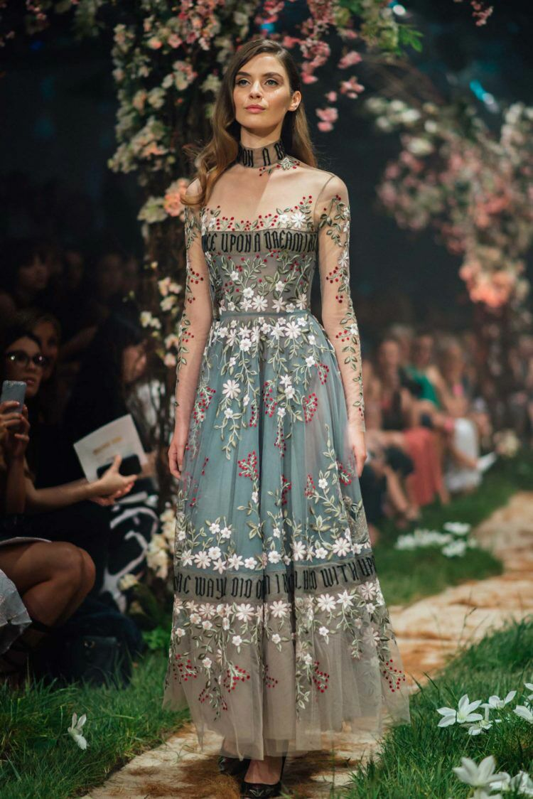 Paolo Sebastian Disney gowns embroidered dress