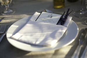 Place Settings with Lavender