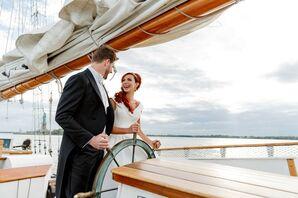 Couple Shares Sunset Sail After Wedding