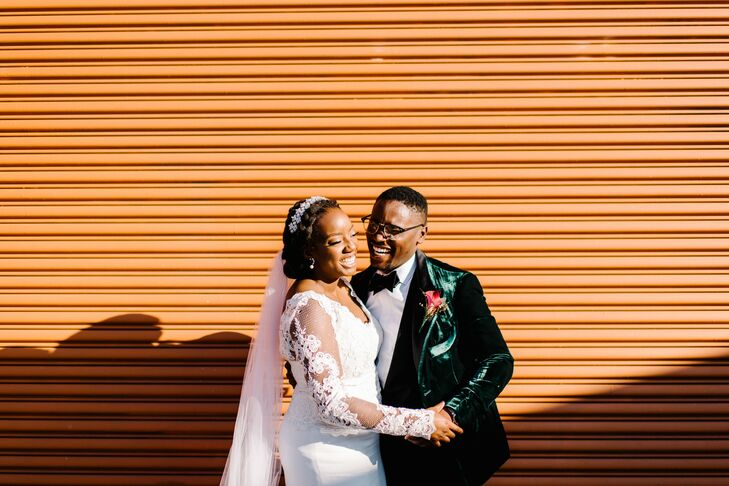 Segi Ayeni and Gabe Thurin had two separate celebrations: a Western wedding at the Detroit Institute of Arts and a traditional Yoruba ceremony at the