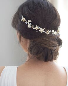 Dareth Colburn Victoria Floral Hair Vine (TI-3352) Gold Headband