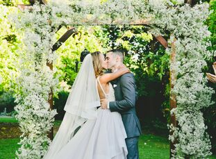 Esme Williams (34 and a consultant) married Matthew Berenc (34 and director of the Equinox Training Institute) in a romantic, vintage-inspired ceremon