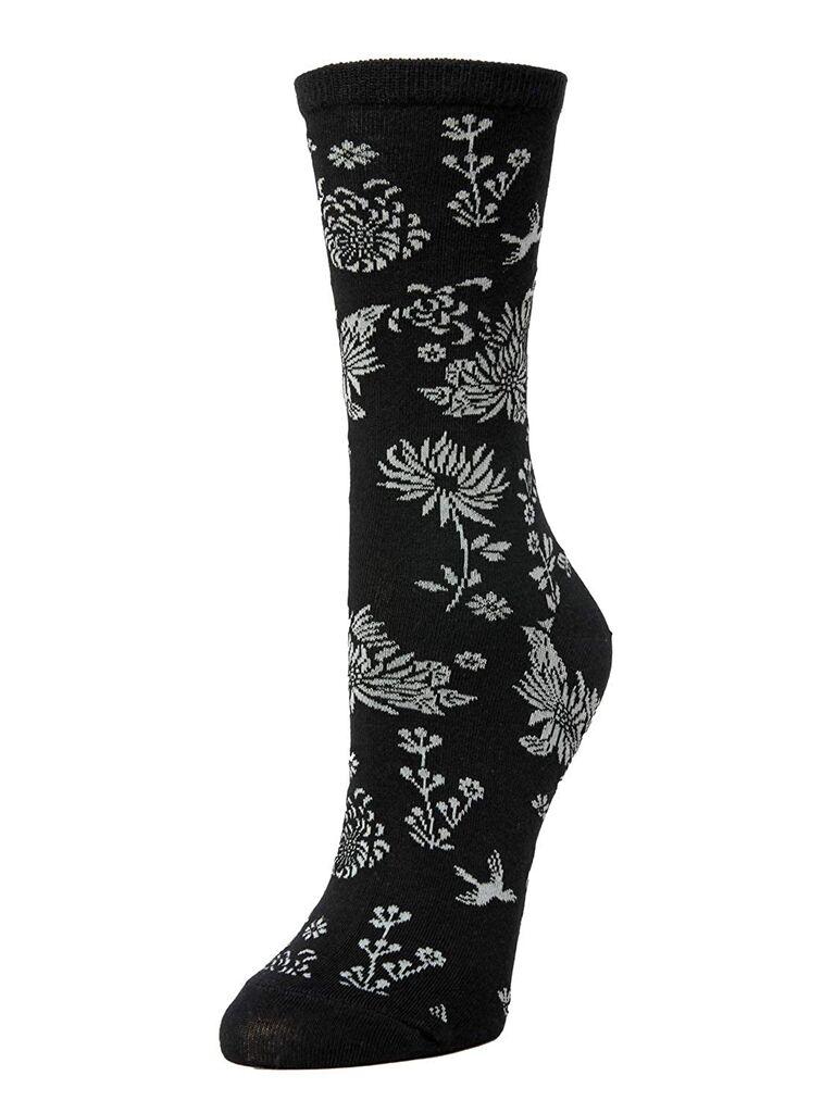 Floral groomsmen and groom wedding socks