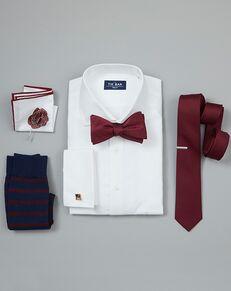 The Tie Bar Wedding Accessories Burgundy Wedding Accessories Purple, Red Tuxedo