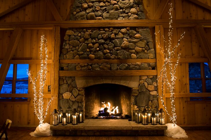 Rustic, Romantic Fireplace at Devil's Thumb Ranch