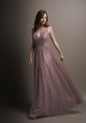 Belsoie Bridesmaids by Jasmine L194001 V-Neck Bridesmaid Dress