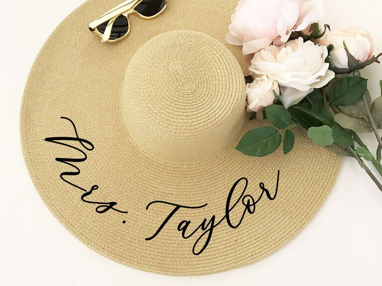 ​ModParty personalized Mrs. sun hat