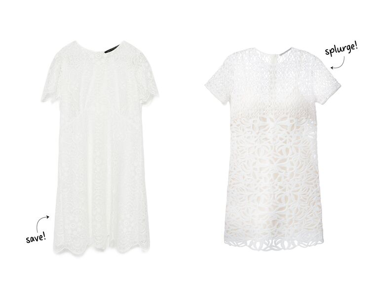 d50f9d54143b We love the idea of channeling your wedding dress with a shorter white dress.  If you re having a garden party or a more casual affair