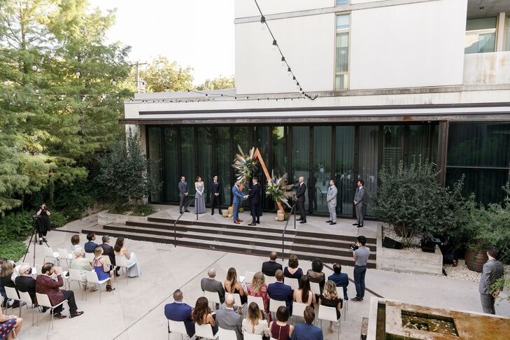 Outdoor Wedding Ceremony at South Congress Hotel in Austin, Texas