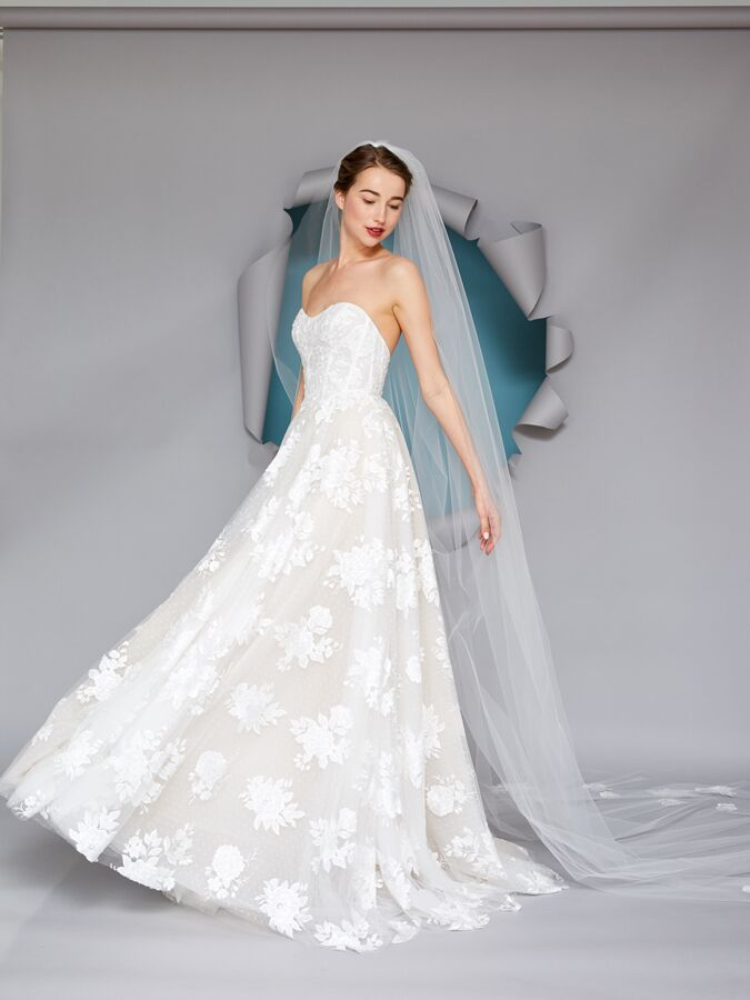 Gracy Accad strapless ball gown with sweetheart neckline