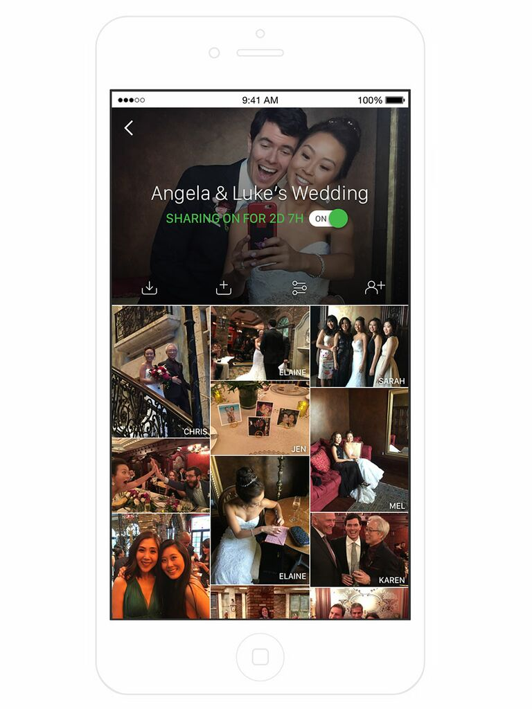 The Guest wedding picture sharing app screenshot