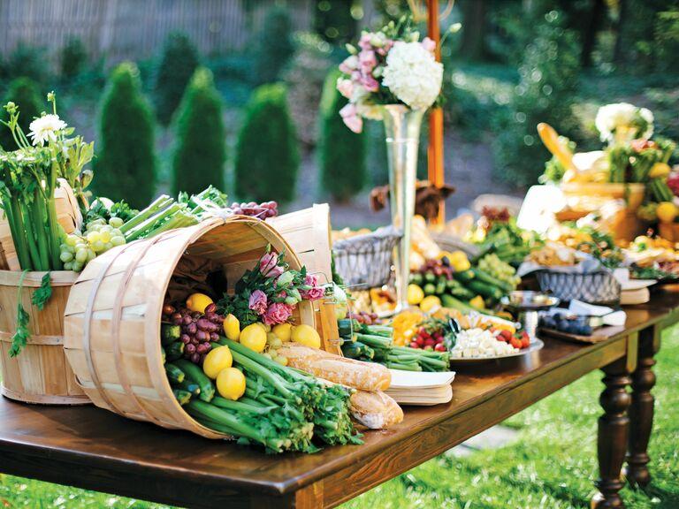 Local produce recepion table