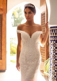 Moonlight Couture H1391 Mermaid Wedding Dress