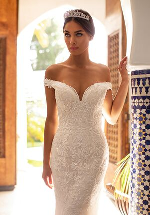 Moonlight Couture H1391 Mermaid Wedding Dress
