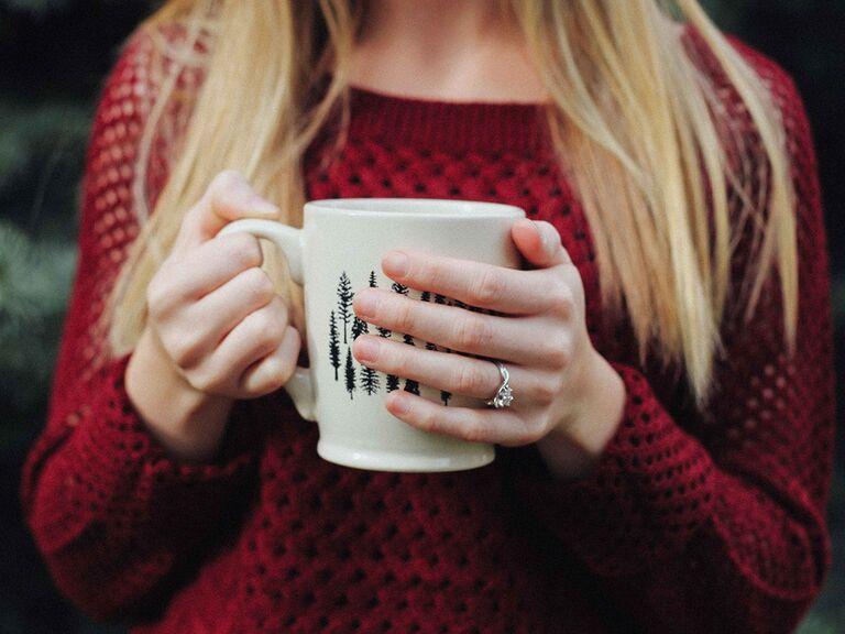 Proposal season engagement ring