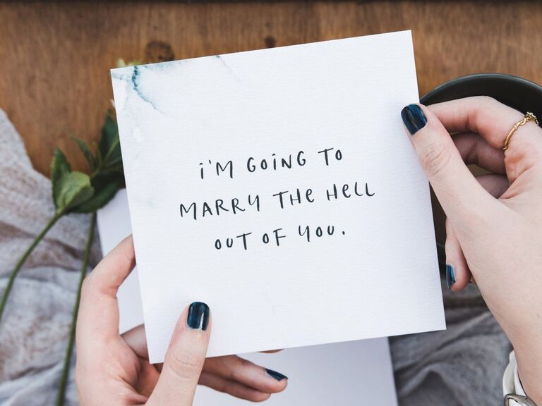 Funny wedding card gift fo wife