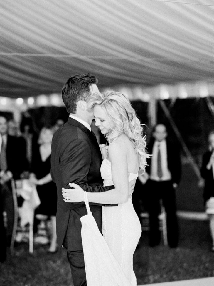 """Morgan and Brandon's first dance was to """"Rivers and Roads"""" by the Head and the Heart."""