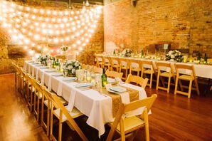 Gold Romantic Reception at Zingerman's Events
