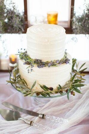 Lavender and Olive Leaf Cake