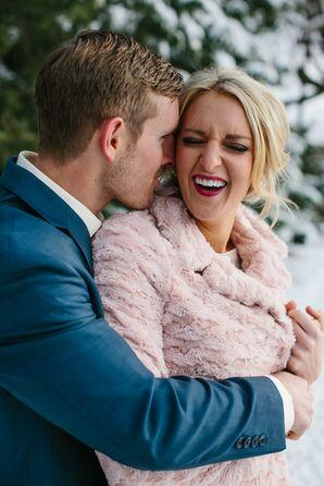 Blush Pink Faux Fur Bridal Wrap