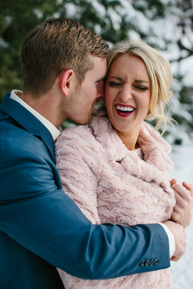 Blush Pink Faux Fur Bridal Wrap