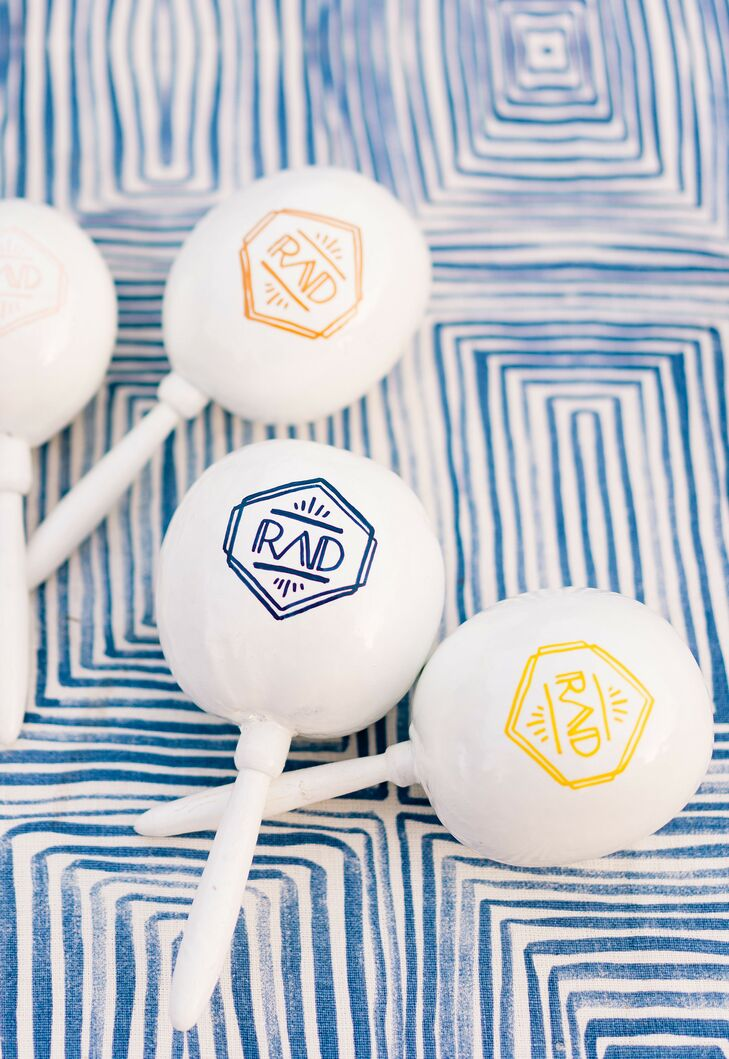 Custom Noise Makers for Wedding at the Ace Hotel and Swim Club in Palm Springs