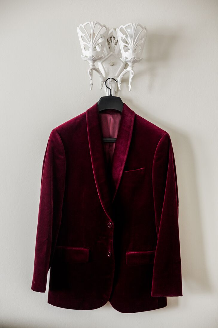 Red Velvet Suit Jacket