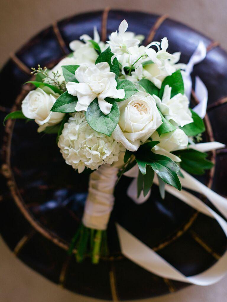 White gardenia wedding flowers
