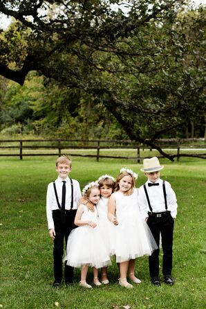 Ring Bearer Black Trousers and Suspenders