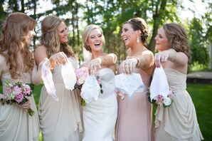 Blush-Colored Bridesmaid Dresses by Watters