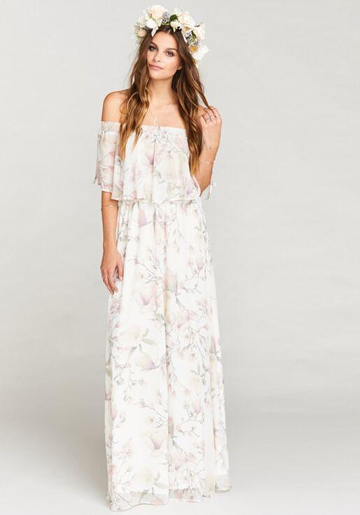 0ba0e29955a Show Me Your Mumu Hacienda Maxi Dress - Forever Vine Off the Shoulder  Bridesmaid Dress