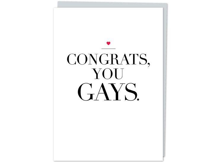 Congratulatory gay wedding card