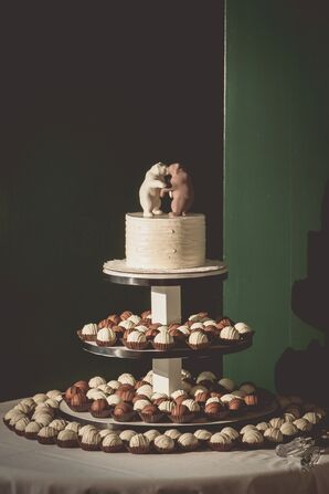 Bear Topped Cake and Truffles