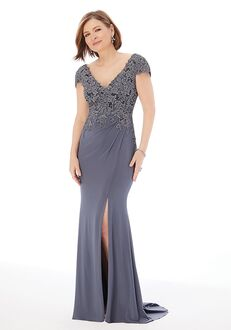 MGNY 72226 Gray Mother Of The Bride Dress