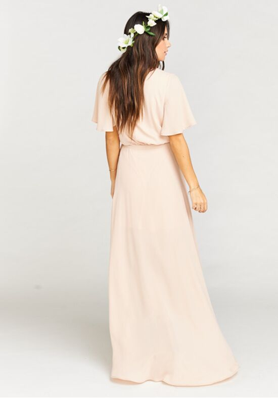 6ba778fb2c6 Show Me Your Mumu Sophia Wrap Dress - Dusty Blush Crisp Bridesmaid Dress -  The Knot