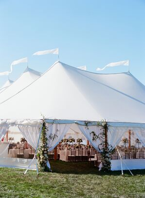 Open-Air Tent with Floral Garlands