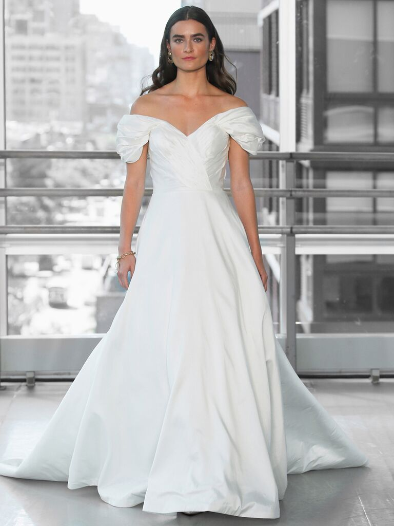Justin Alexander Signature Wedding Dresses off-the-shoulder ball gown