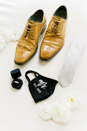 Groom's Accessories for Wedding at Leal Vineyards in Hollister,  California