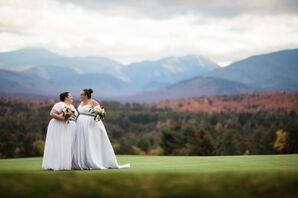 Strapless A-Line Wedding Dress with Striped Sash