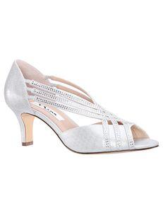 Nina Bridal Novita Silver Shoe