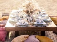 bachelorette picnic setup outdoors