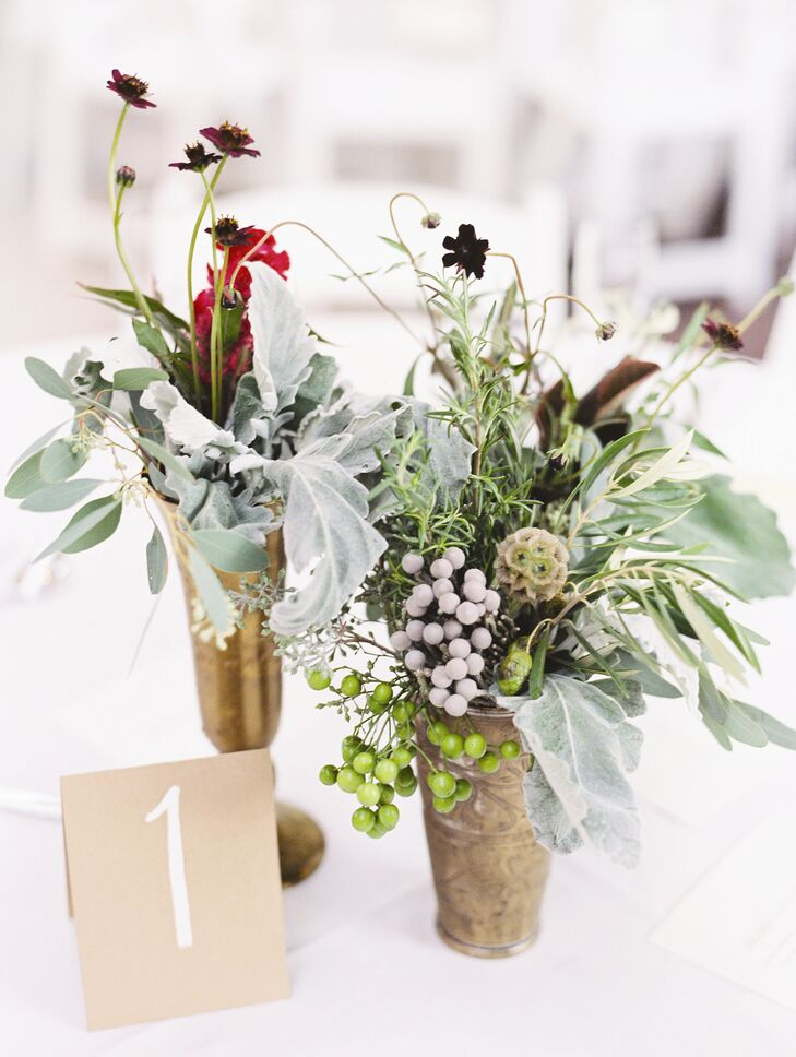 Each centerpiece was slightly different, making for an elegant and unique arrangement for every table.