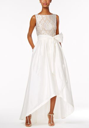 Adrianna Papell Wedding Dresses Adrianna Papell Embroidered Taffeta High-Low Gown Ball Gown Wedding Dress