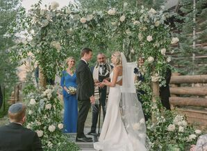 Jewish Ceremony with Rose-Covered Chuppah