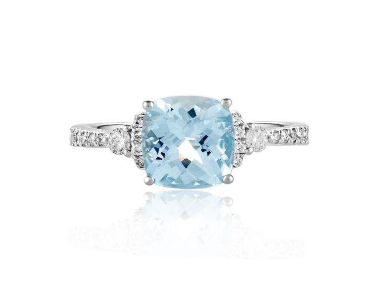 dazzling aquamarine birthstone ring