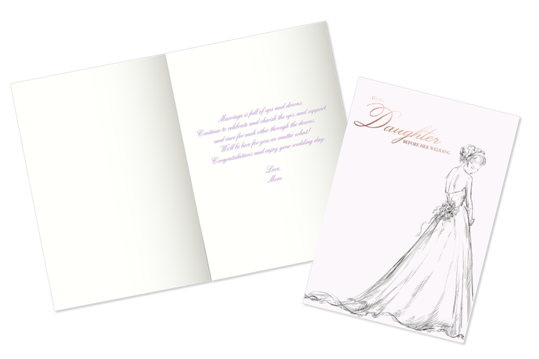 Example of what to write in a bridal shower card for your daughter