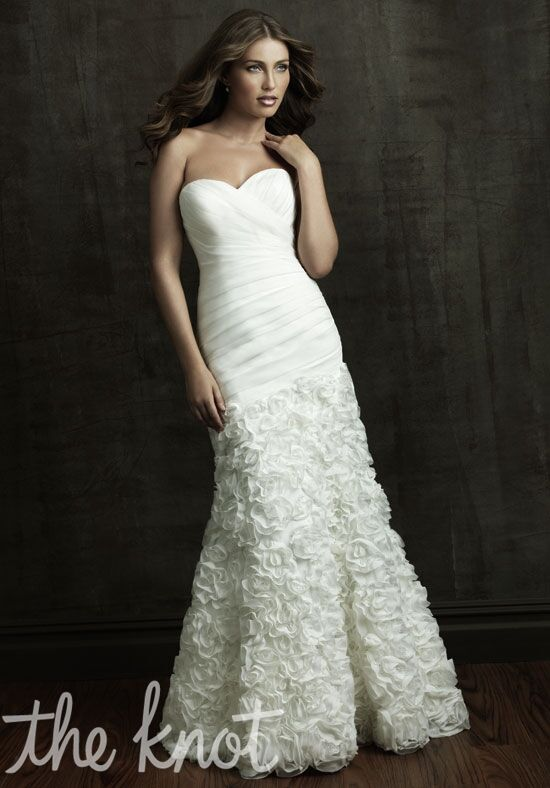 Allure bridals 8806 wedding dress the knot for Wedding registry the knot
